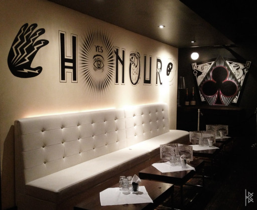 KB & Carlos Santos. ''Honour Wall'' Acrylic on Wall, 10'x4'. 2012