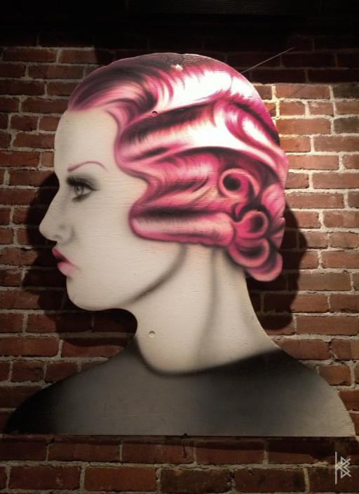 KB. ''The Vamp'' Acrylic on Wood Die Cut, 5'x4'. 2012