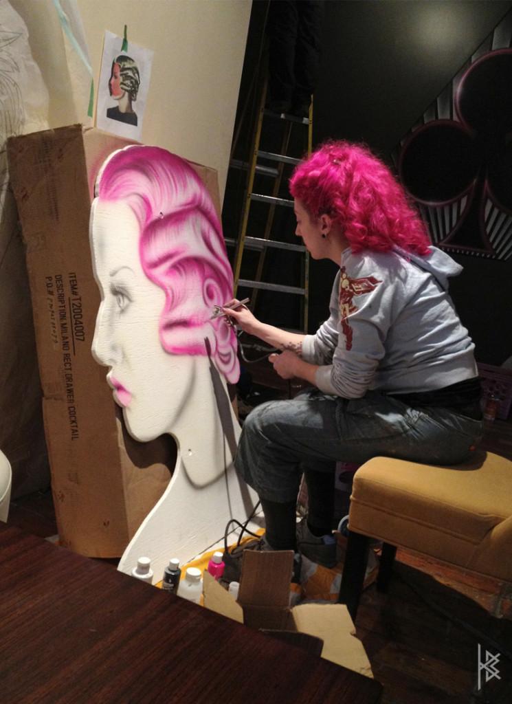 KB painting ''The Vamp'' die cut