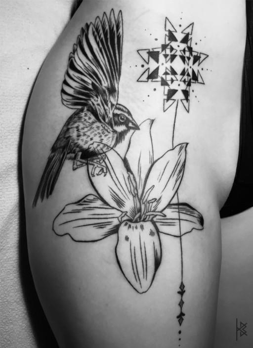Star Flower Tattoo