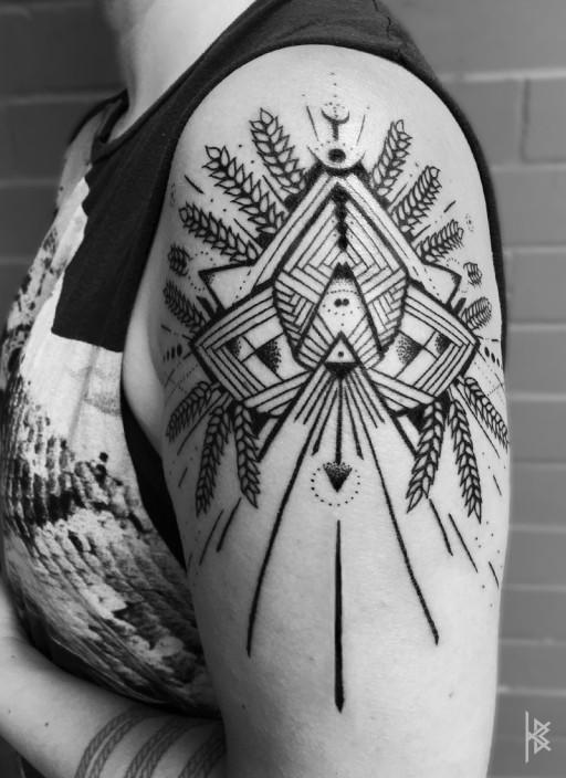 Mystical Wheat Tattoo
