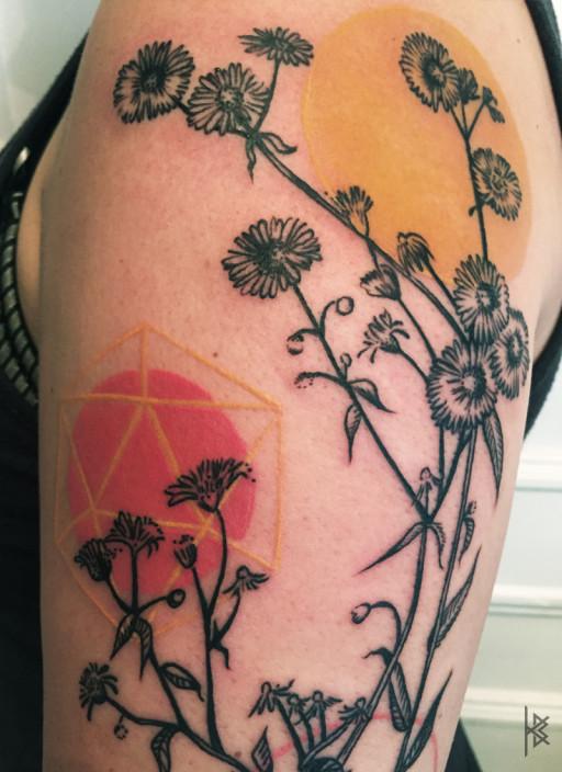 Fleabane Tattoo Detail