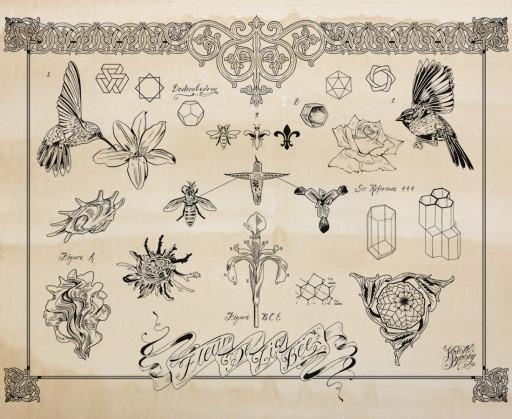 """Fleur De Lis Bee Flash"", Silkscreen on Coffee Stained Paper, 26""x20"". 2012"