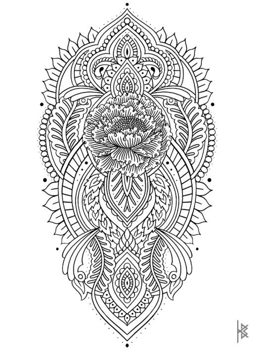 Sacred Poppy Illustration