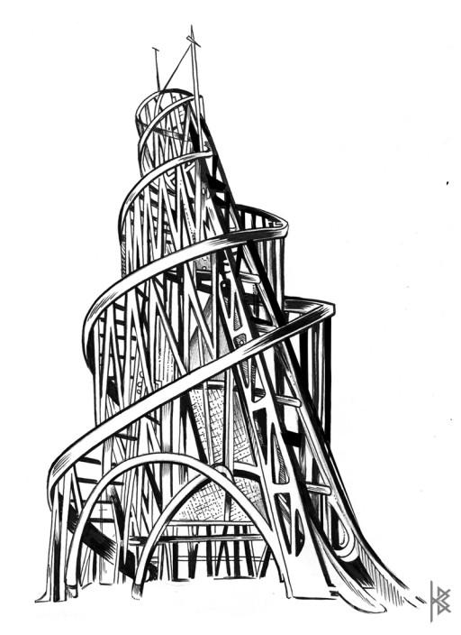 Tatlin Tower Illustration