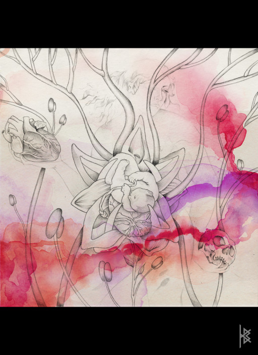 KB. ''Great Mother'' Pencil and Watercolor on Paper, 6'x8'. 2007