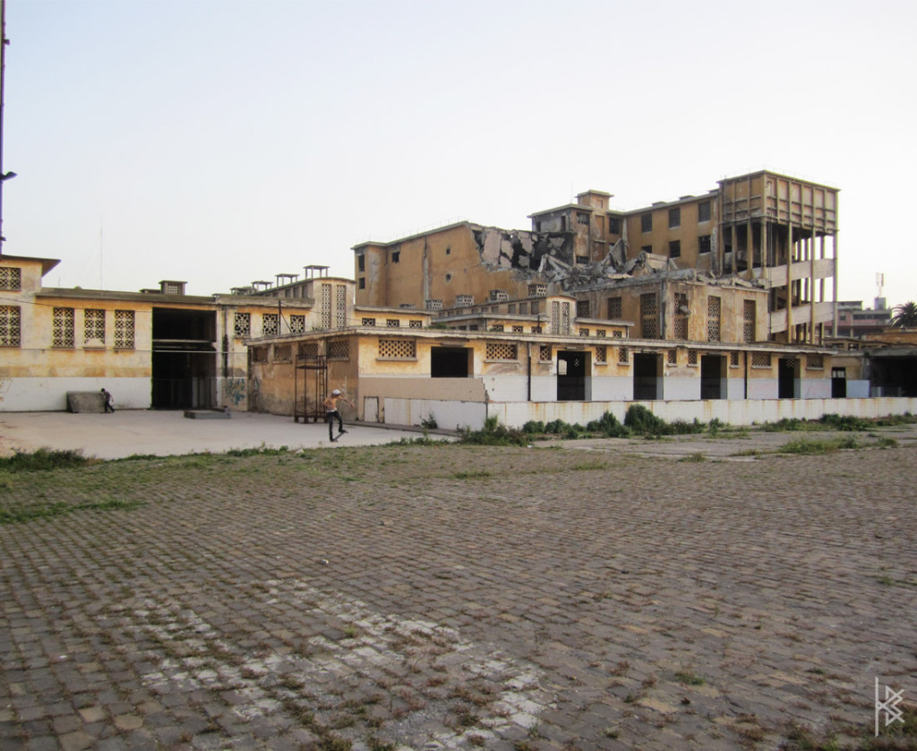 Crumbled Building
