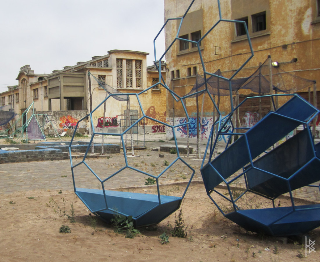 Park Behind Painting