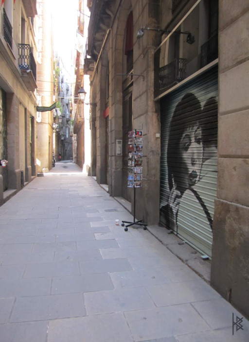 KB. ''Vivre Sa Vie'' Spray Paint on Shutter, 10'x10'. 2010