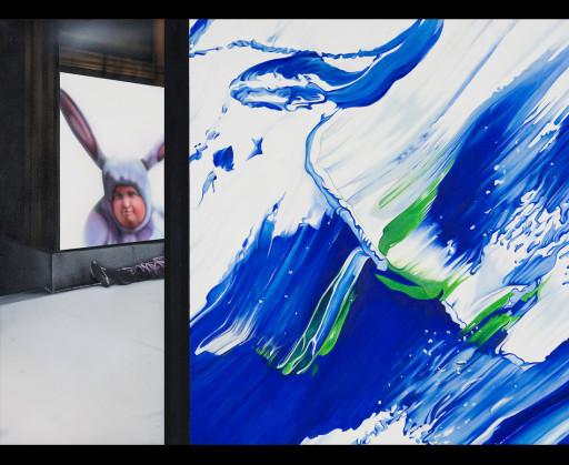 MTAF. ''Bunny'' Oil and Acrylic on Canvas, 4'x3'. 2006