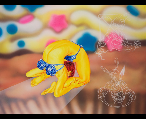 MTAF. ''Cupcake'' Oil and Acrylic on Canvas, 4'x3'. 2006