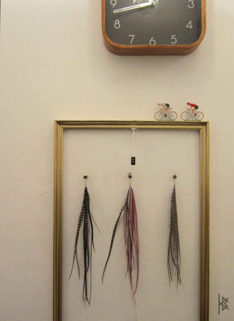 Feather Earrings in La Clinique