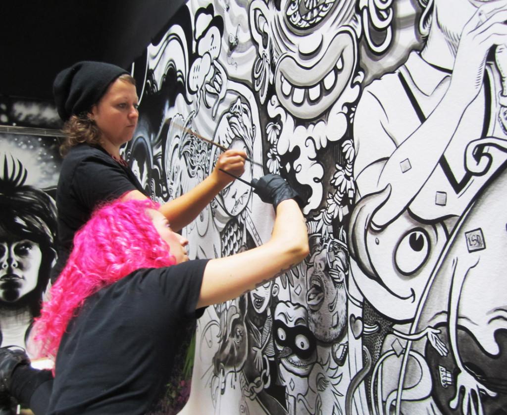 Krista and Caro Painting