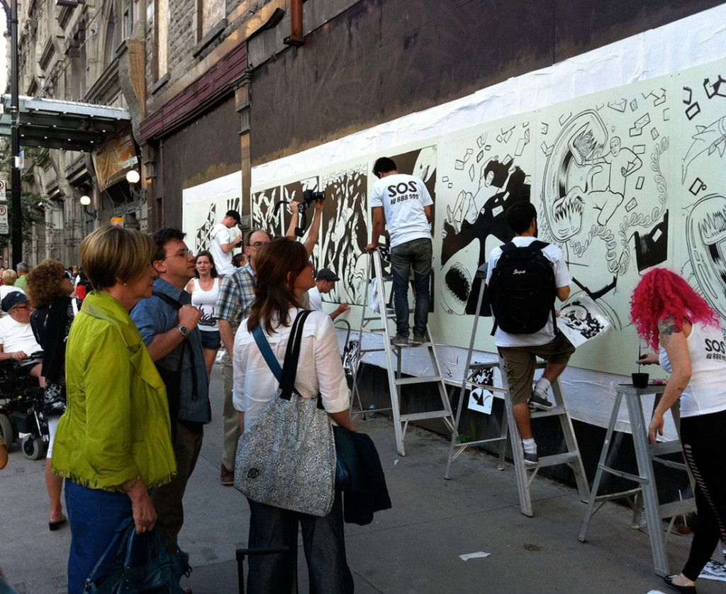 Live Public Painting Installation
