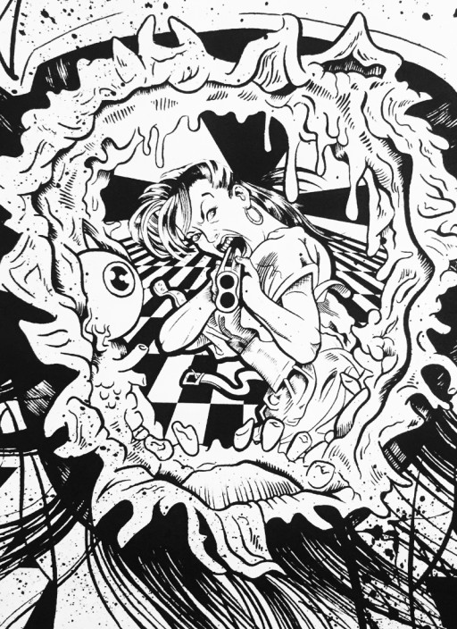 MTAF. ''Verdun Nurse'' Ink on Paper, 10''x10''. 2008