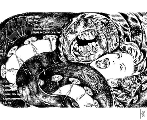 KB. ''Tit Monster'' Ink on Paper, 17''x11''. 2011