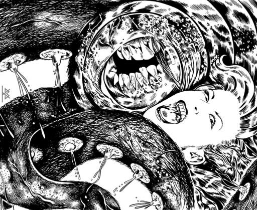 KB. ''Tit Monster'' Ink on Paper, 17''x11'.' 2011