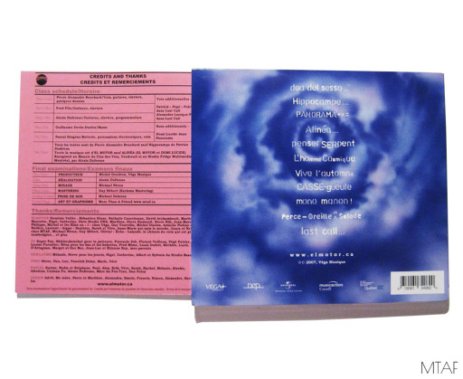 Back of CD and Booklet