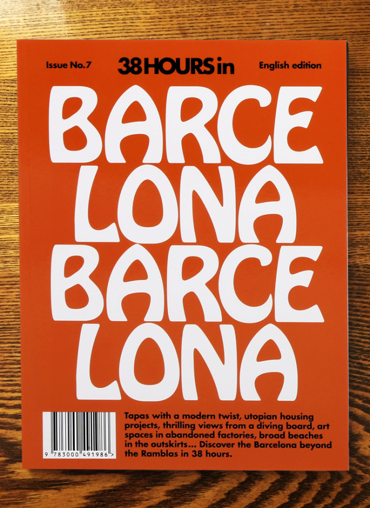 LOST IN (formally 38 Hours) Barcelona publication front cover 2015.
