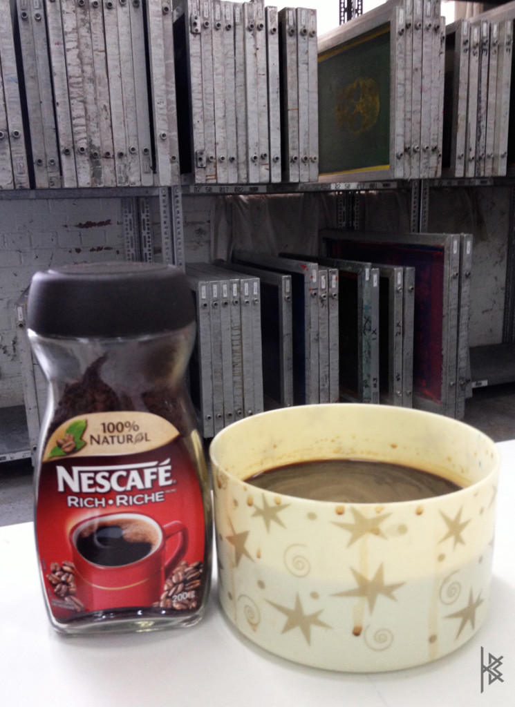 Nescafe special blend for coffee staining the paper!