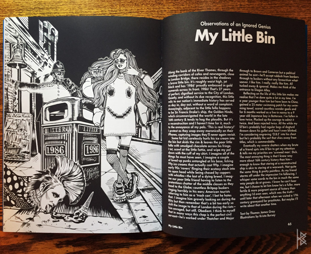 KB. ''My Little Bin'' Ink on Paper Graphically Composed, Final Version Printed. 2015