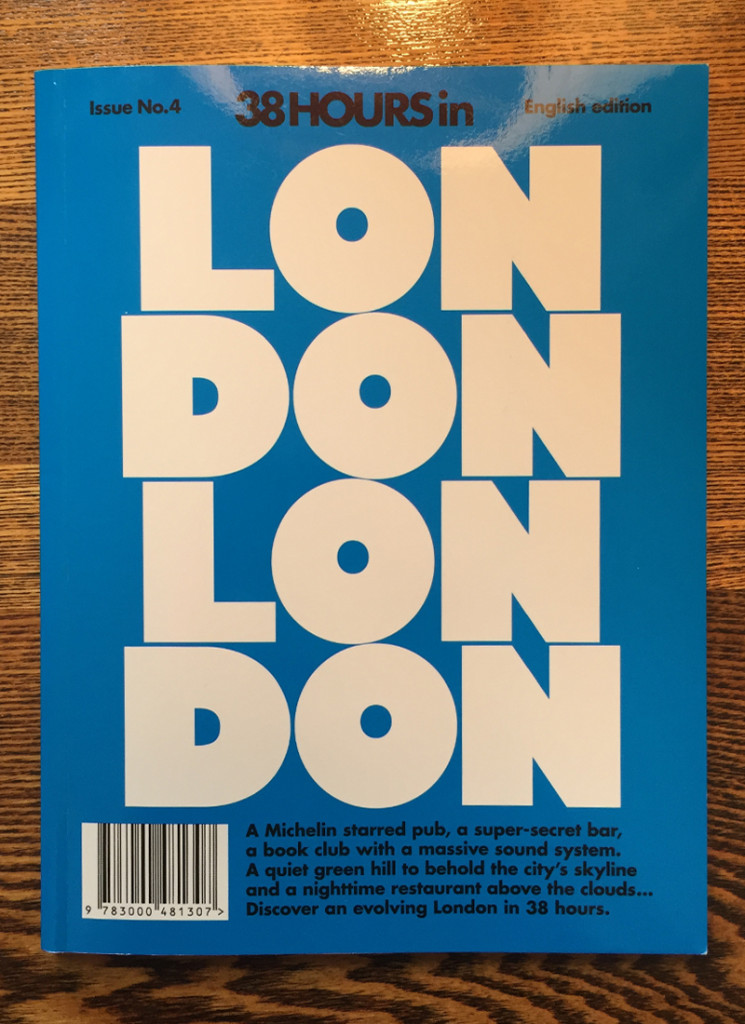 LOST IN (formally 38 Hours) London publication front cover 2014.