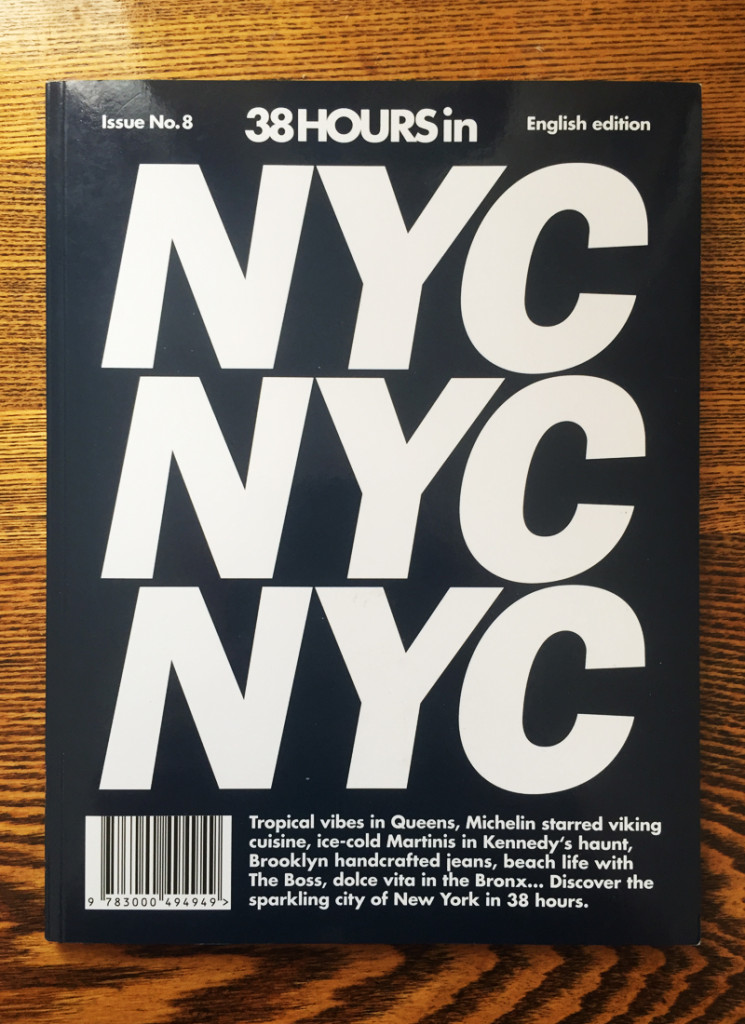 LOST IN (formally 38 Hours) New York City publication front cover 2015.