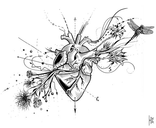 Known and Unknown Heart Illustration