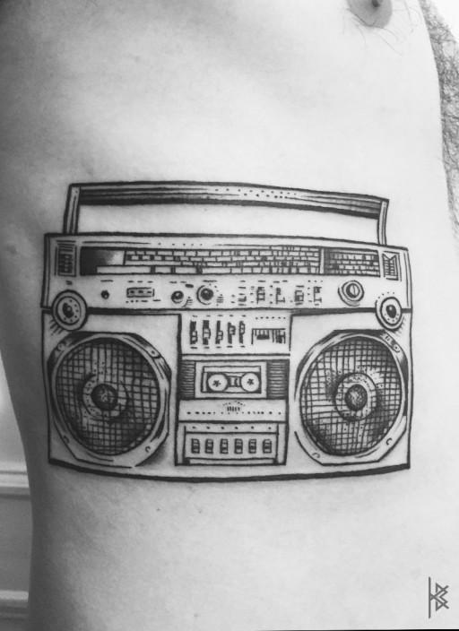 Ghettoblaster Tattoo