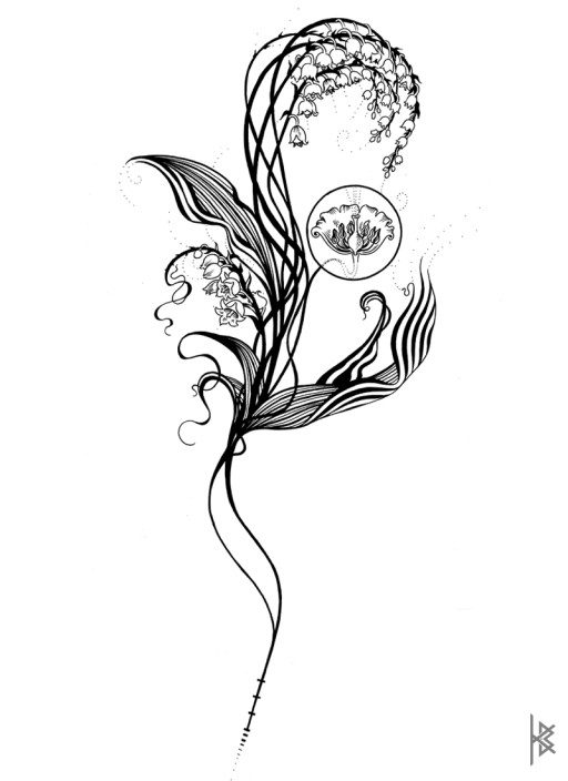 Lily of the Valley Illustration