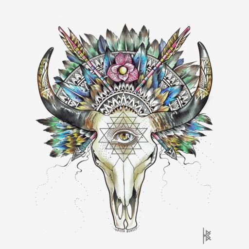 Legend of Bull and Sister Illustration