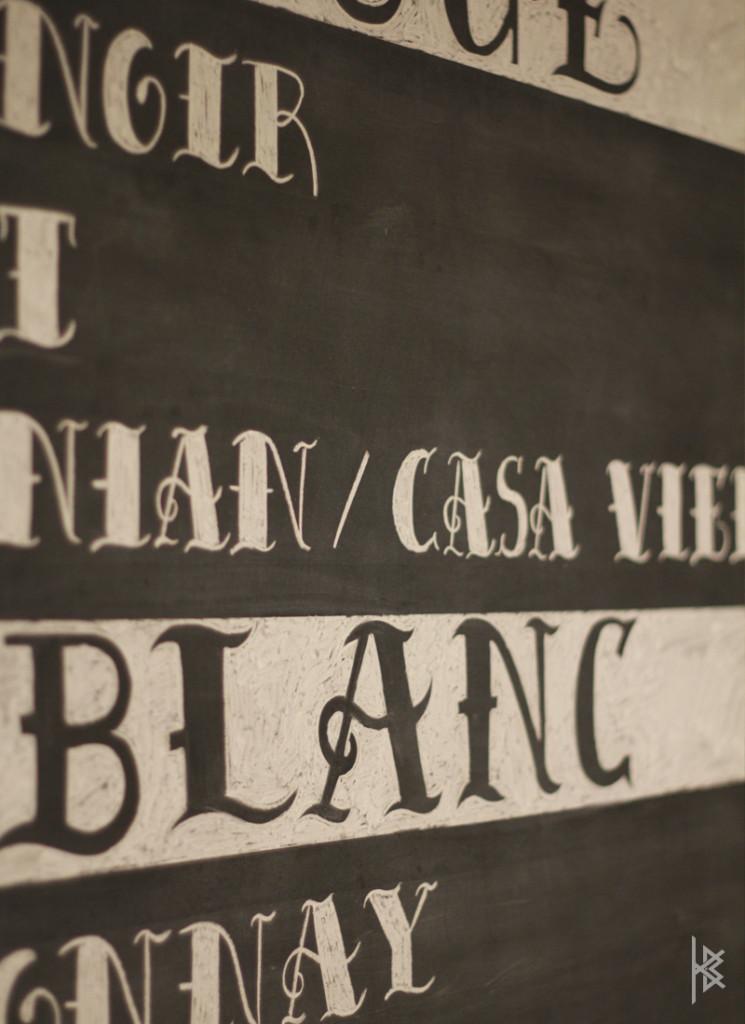 Chalkboard Detail
