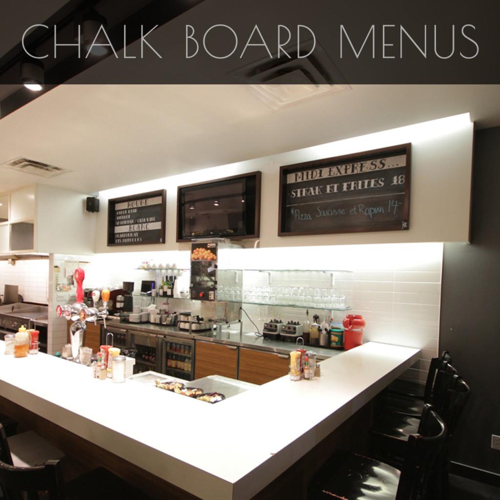 Chalk Board Menus