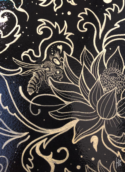 """""""Bee Detail"""" Gold Acrylic Paint"""