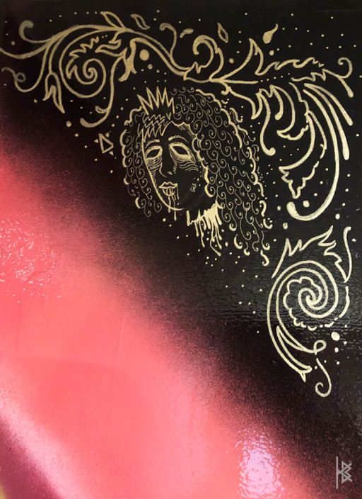 """""""Severed Head Detail"""" Gold Acrylic Paint"""