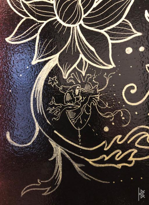 """Heart Detail"" Gold Acrylic Paint"
